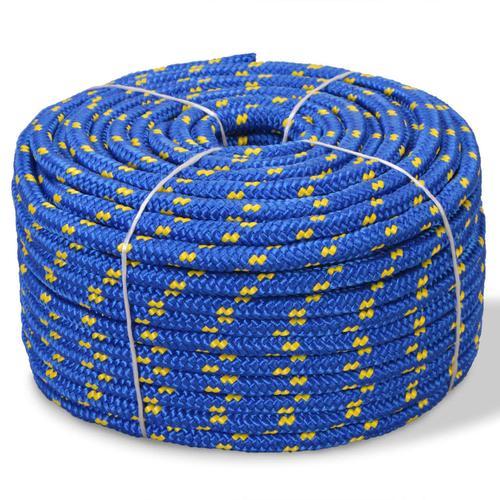vidaXL Bootsseil Polypropylen 6 mm 500 m Blau