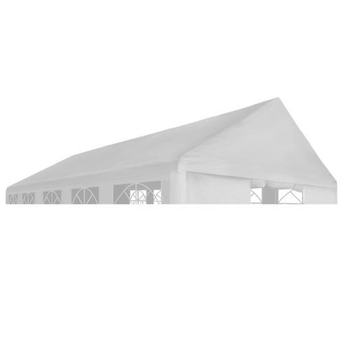 vidaXL Partyzeltdach 4 x 8 m Weiß