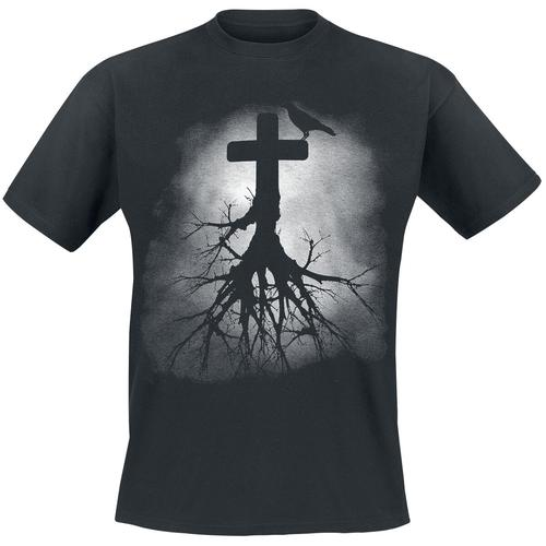 Gravetree Herren-T-Shirt - schwarz