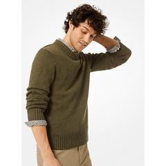 Michael Kors Cotton and Linen Pullover Green S