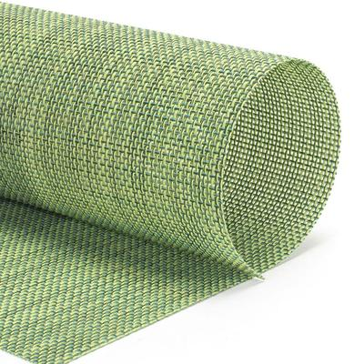 """Front of the House XPM122GRV83 Rectangular Metroweave? Placemat - 16"""" x 12"""", Woven Vinyl, Emerald"""