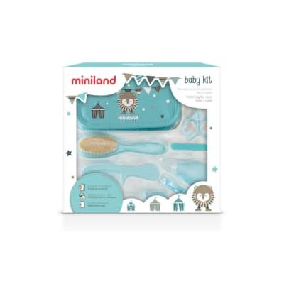Miniland - Baby Hygiene Kit/Blue - Blue/Brown/Natural