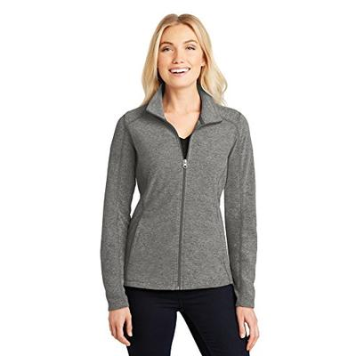 Port Authority Ladies Heather Microfleece Full-Zip Jacket. L235 Pearl Grey Heather L