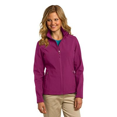 Port Authority Ladies Core Soft Shell Jacket, XL, Very Berry