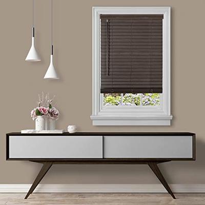 "Achim Home Furnishings Cordless GII Madera Falsa 2"" Faux Wood Plantation Blind 35"" x 64"", Mahogany"