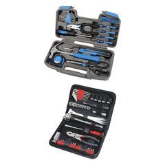 Apollo Tools Tool Sets - Black & Blue 39-Piece General Tool Set & Auto Tool Set