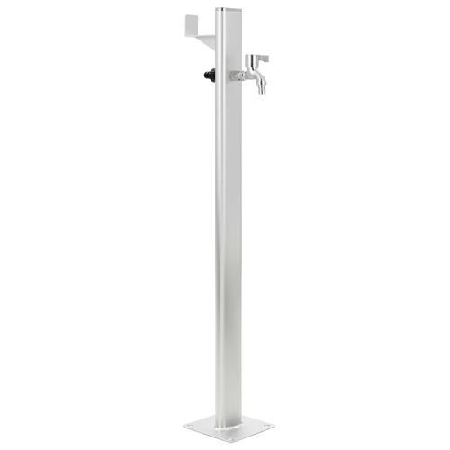 vidaXL Garten-Wassersäule Aluminium 95 cm