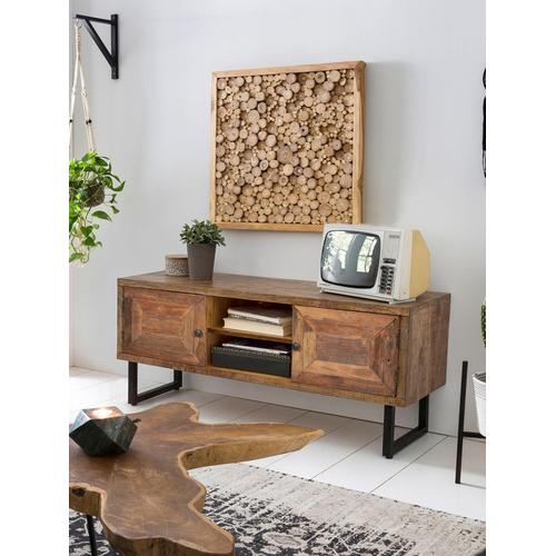 SIT Lowboard Parquett, aus recyceltem Teakholz, Breite 130 cm beige Lowboards Kommoden Sideboards