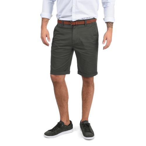Solid Chinoshorts Montijo, (mit abnehmbarem Gürtel), kurze Hose mit Gürtel grau Herren Chinohosen Hosen