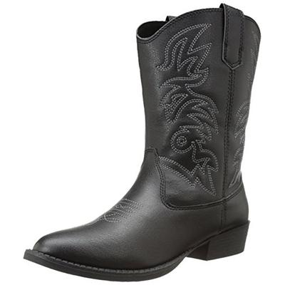 Deer Stags Ranch Kids Cowboy Boot (Toddler/Little Kid/Big Kid), Black, 11 M US Little Kid