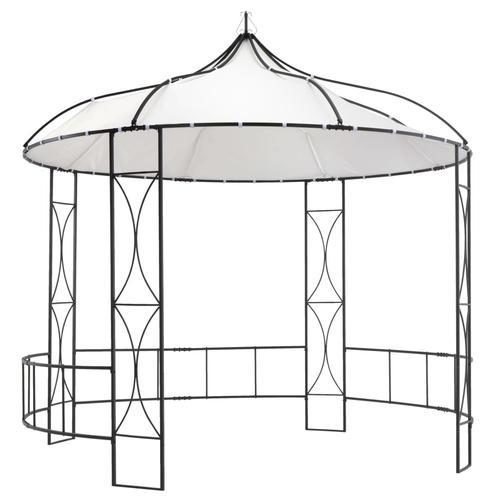 vidaXL Pavillon 300×300×290 cm Weiß Rund