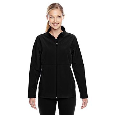 Team 365 Womens Leader Soft Shell Jacket (TT80W) -Black -L