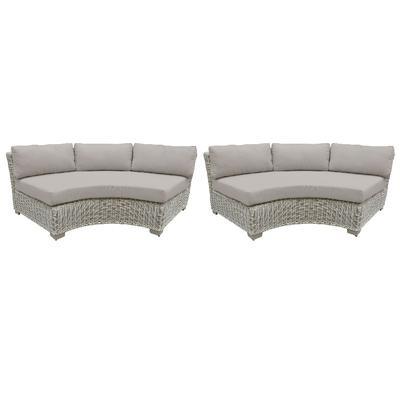 Coast Curved Armless Sofa 2 Per Box in Beige - TK Classics Tkc038B-Cas-Db