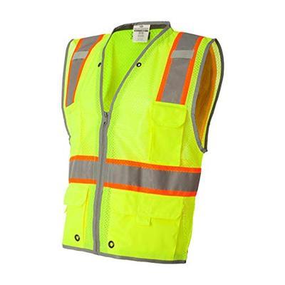 ML Kishigo Brilliant Series Heavy Duty Class 2 Vest, Lime, Small