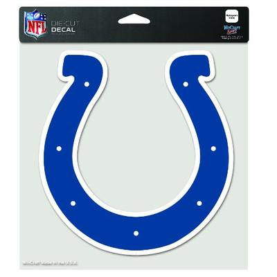 NFL Indianapolis Colts 8-by-8 Inch Diecut Colored Decal