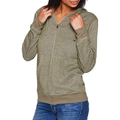 Next Level Unisex Denim Fleece Full-Zip Hoody 9600 -Military Gre L