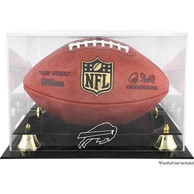 Buffalo Bills Golden Classic Football Display Case with Mirror Back