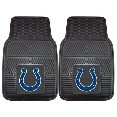 "Indianapolis Colts Heavy Duty 2-Piece Vinyl Car Mats 18""x27"" - FAN-8769"