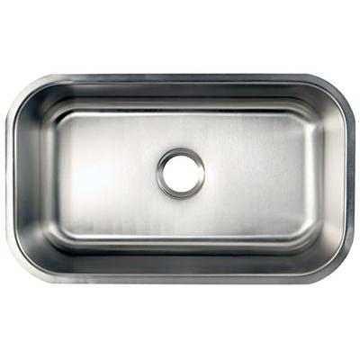 Kingston Brass Gourmetier GKUS3018 Undermount Single Bowl Kitchen Sink 30-Inch-Length by 18-Inch-Wid