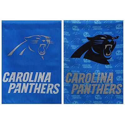 Team Sports America Carolina Panthers Glitter Suede House Flag, 29 x 43 inches