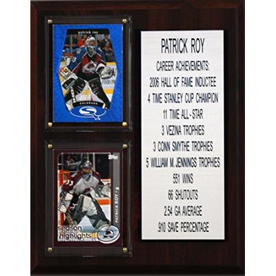 "C&I Collectables MLB Colorado Avalanche Patrick Roy Career Stat Plaque, 8"" x 10"", Brown"