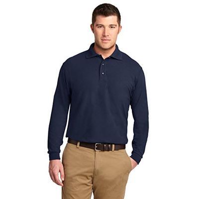 Port Authority Men's Tall Silk Touch Long Sleeve Polo LT Navy